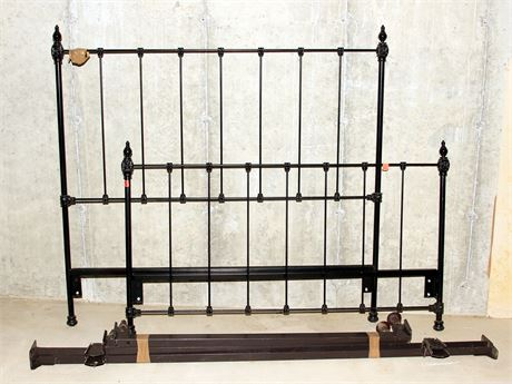 Black Iron Bed Frame (Full Size)